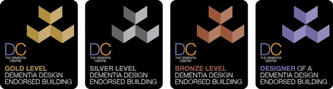 Dementia Design Endorsement Logos line
