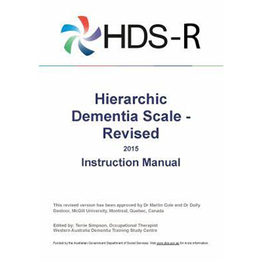 Hierarchic Dementia Scale-Revised (HDS-R) Kit ($289.00)