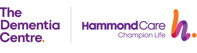 The Dementia Centre and Hammond Care Logos